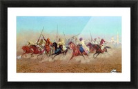 Horsemen Outside The Northern Cemetery Picture Frame print