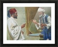 Two arab men chatting Picture Frame print