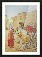 The camel seller Picture Frame print