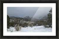 Sandia Mountains in the Snow 7 VP Picture Frame print