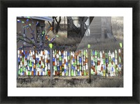 Turquoise Trail - Glass bottles in Golden 2VP Picture Frame print