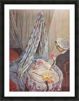 Jean Monet in the cradle by Monet Picture Frame print