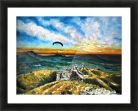 Paragliding Picture Frame print