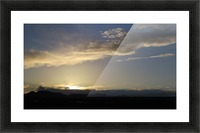 Sunset over the Mountains VP2 Picture Frame print