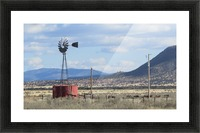 Windmill and Mountains VP1 Picture Frame print
