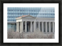 Soldiers Field from Northerly Island VP9 Picture Frame print
