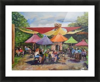 Under The Umbrellas At The Cartecay Vineyard - Crush Festival  Picture Frame print