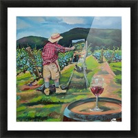 We Paint with Wine- Plein Air in the Vineyard Picture Frame print