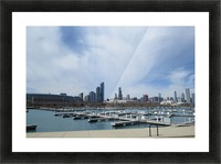 View of Burnham Harbor from Northerly Island  VP4 Picture Frame print