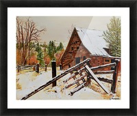 Strong Timbers - A Barn in Nevada Picture Frame print