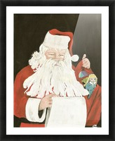 Santa making his list Picture Frame print