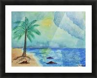 Aqua Sky Ocean Scene Picture Frame print