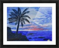Dusk Ocean Scene Picture Frame print