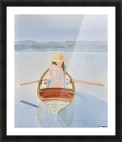 Girl in Rowboat Picture Frame print
