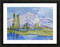 Snow Covered Mountain Picture Frame print