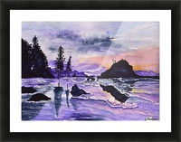 Sunrise Reflection at Second Beach Picture Frame print