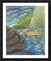 Little Harbor View Picture Frame print