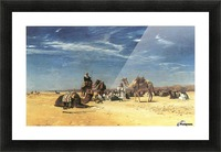 Rast in der Araba Picture Frame print