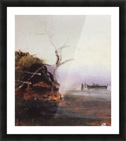 Russian landscape and Rook Picture Frame print