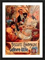 Biscuits Champagne, Lefevre-Utile Picture Frame print
