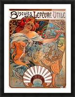 Biscuits Lefevre Utile, 1896 Picture Frame print