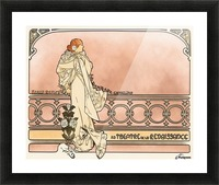 La Dame aux Camelias poster Picture Frame print