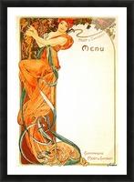 1899 Moet & Chandon menu Picture Frame print