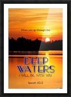 Deep Water Picture Frame print