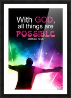 All things Possible Picture Frame print