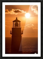 Yaquina Sunset Picture Frame print