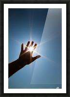 Hand Sunburst Picture Frame print