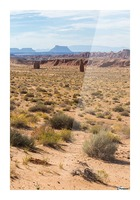 Toward Factory Butte Picture Frame print