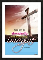 GOD CAN DO Picture Frame print