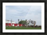 Windmills in Elk City, OK Picture Frame print