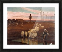 The Ploughman and the Shepherdess Picture Frame print