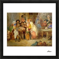 Antique oil painting Picture Frame print
