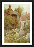 A young girl starring by the house Picture Frame print
