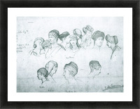 Sketch of hairstyles from ancient sculptures by Alma-Tadema Picture Frame print