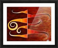 Cassanita sol - martian bird Picture Frame print