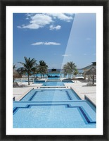 Infinity Pool Picture Frame print