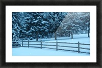 Winter Snow Picture Frame print