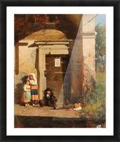 Nens sota la porxada Picture Frame print
