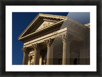 Old Building with Corinthian Pillars and Blue Sky Picture Frame print