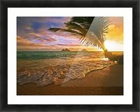 Lanikai Beach Sunset Picture Frame print