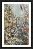 Monet - The Rue Montorgueil in Paris Picture Frame print
