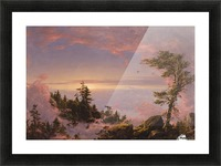 Church Above the Clouds Picture Frame print