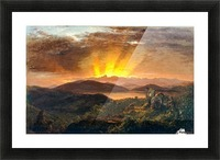 Sunrise on a valey Picture Frame print