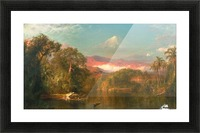 A small hut by a river Picture Frame print