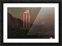 Moonrise Over Greece Picture Frame print