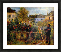 Monet painting in his garden in Argenteuil Picture Frame print